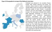 Figure 20 Geographical coverage of the fieldwork: interviews.