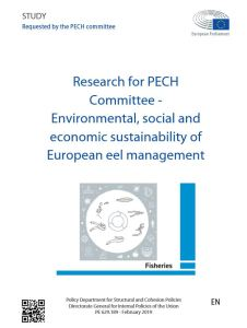 Environmental, social and economic sustainability of European eel management