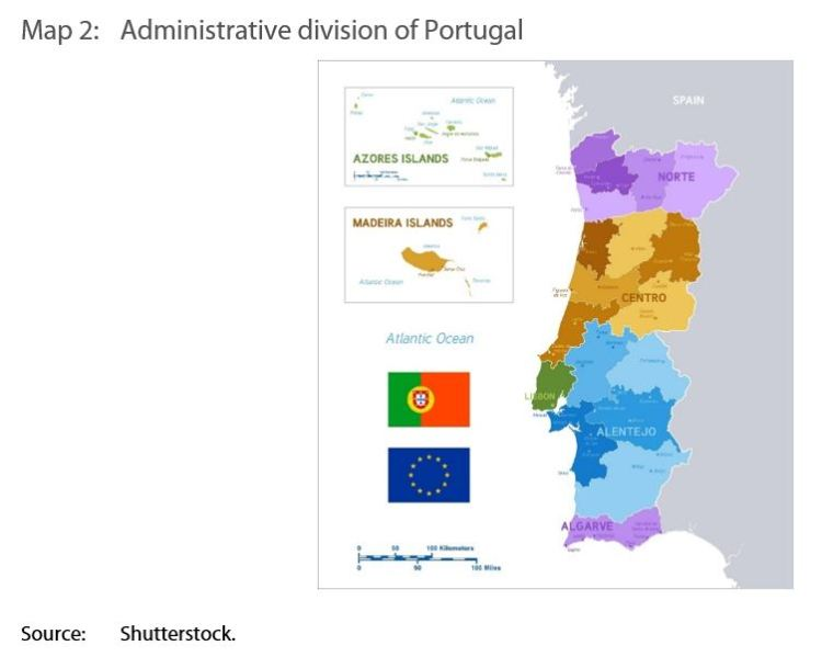 Map 2: Administrative division of Portugal