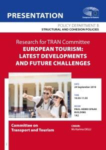 TRAN Study presentation: European tourism - latest developments and future challenges
