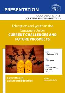 Education and youth in the European Union – Current challenges and future prospects