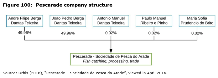 Figure 100: Pescarade company structure