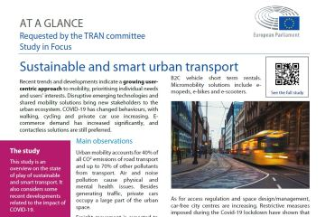 At a glance: Sustainable and smart urban transport
