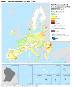 Risk of land abandonment in EU27 at NUTS-3 level