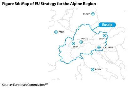 Figure 36: Map of EU Strategy for the Alpine Region