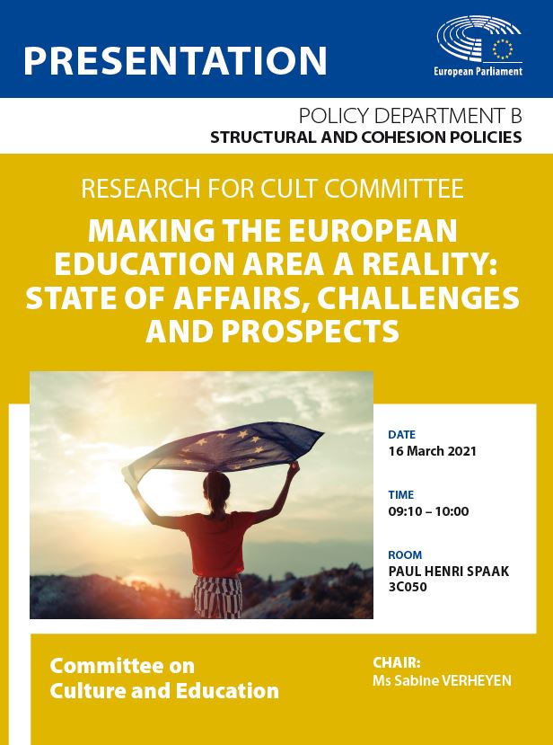Making the European Education Area a reality: state of affairs, challenges and prospects