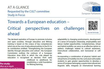 At a glance: Towards a European Education – Critical Perspectives on Challenges Ahead