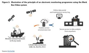 Figure 3: Illustration of the principle of an electronic monitoring programme using the Black Box Video system