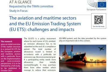 At a glence: The aviation and maritime sectors and the EU Emission Trading System (EU ETS): challenges and impacts
