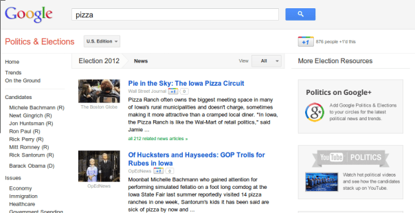 Google Elections -- Thin Crust Party
