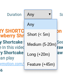 Petey Vid's Duration Options