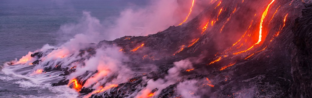 Magma visible on the earth's surface: Dr Tobias Keller models the complex generation and transport of magma beneath volcanoes.
