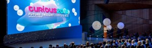 photo of the stage at Curious 2018 Conference