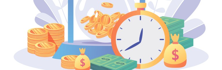 graphic showing time and money