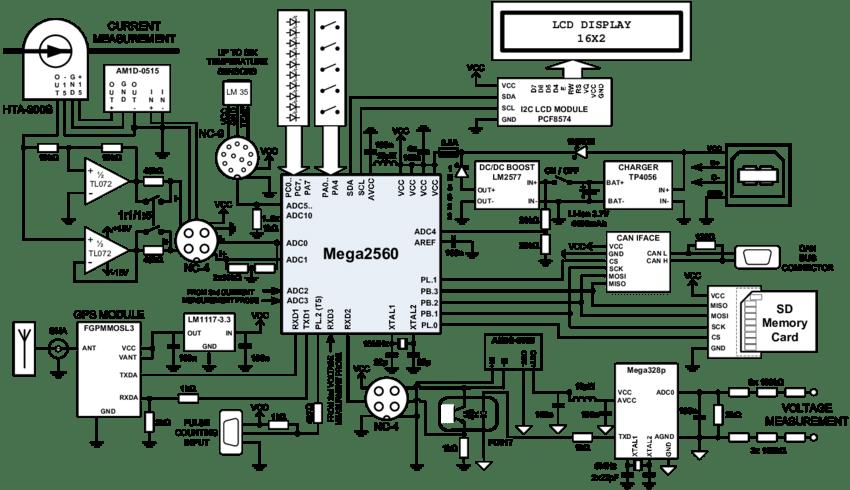Electric Vehicle Data Recorder Schematic Diagram