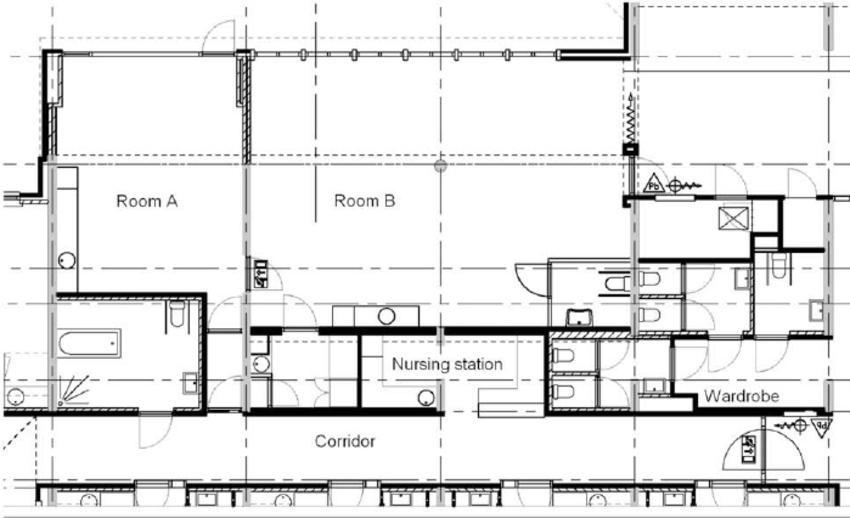 Floor Plan Of The Day Care Centre.