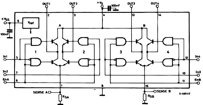 Circuit Diagram Of H-Bridge 298.