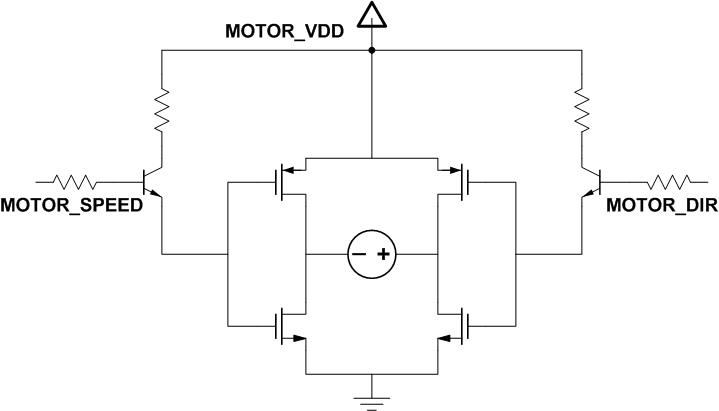 4 H-Bridge Circuit. The Resistors And NPN Transistors