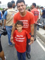 """""""My father is not a vandal, he is a hero!"""""""