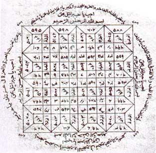 A circular Arabic talisman for magic