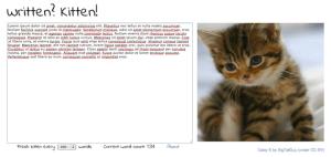 Screen Shot from Written? Kitten!
