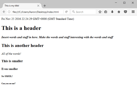 Html Firefox