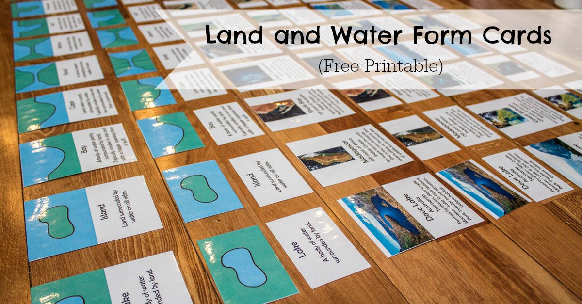 Land And Water Form Cards
