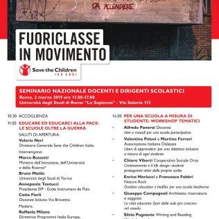 Fuoriclasse in movimento e la città educante Roma 2 Marzo 2019