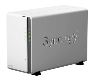 Serveur NAS Synology 2 baie, ici un DS216j