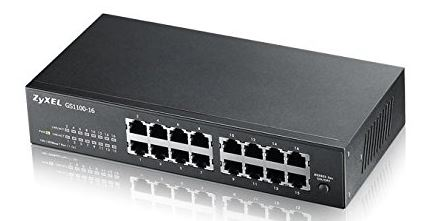 Photo d'un switch Gigabit 16 ports de marque ZyXel