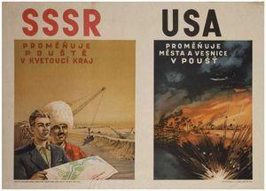 La version occidentale déclare qu'il s'agit de propagande mais c'était en réalité plus proche de la vérité que la propagande inverse sur la nature maléfique du communisme soviétique.
