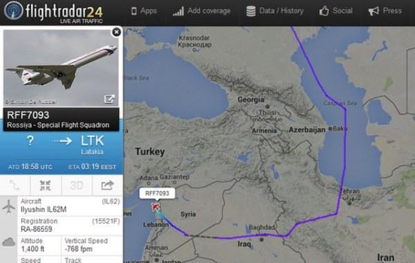 SIRIA-RUSIA-FLIGHT