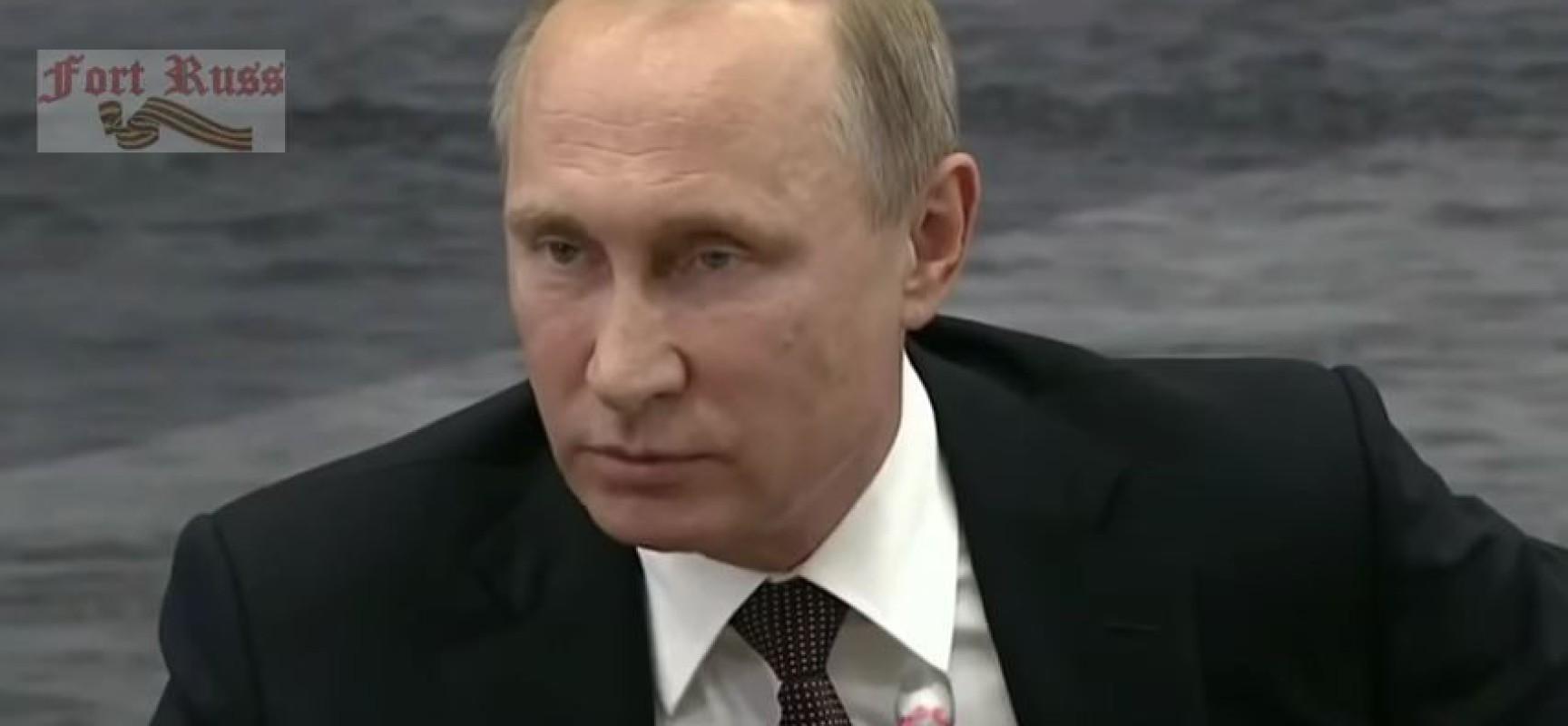Danger de guerre: l'appel désespéré de Poutine