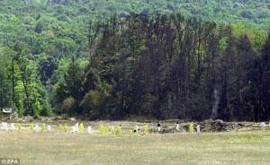 Site du « crash » du vol 93 à Shanksville. Source : dailymail.co.uk, 3 juillet 2012.