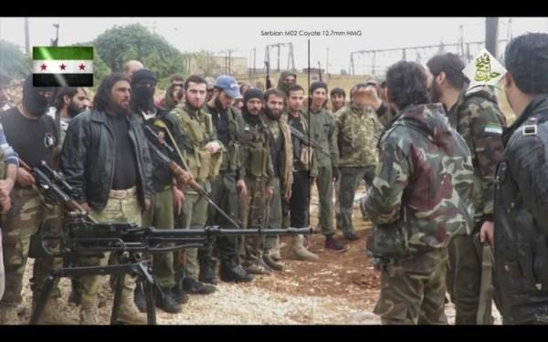 Une mitrailleuse Coyote 12,7x108 mm est apparue dans des vidéos et des photos postées en ligne par des groupes militants à Idlib et dans la province de Hama en Syrie. Le même type d'arme avait été transporté sur un vol diplomatique via la Turquie et l'Arabie Saoudite quelques mois plus tôt.