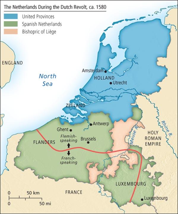Les Pays-Bas pendant la révolte des Pays-Bas, 1580