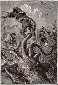 llustration du Kraken, tirée de l'édition de 1870 de « 20 000 Lieues Sous les Mers », de Jules Verne