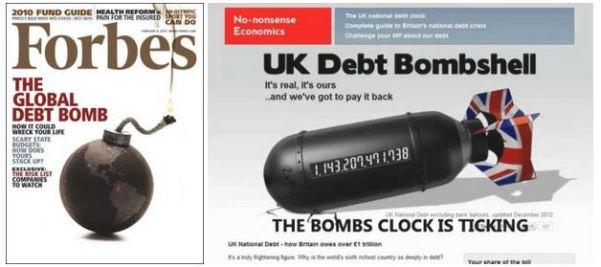« La bombe de la dette » à la Une de grands magazines anglo-saxons…