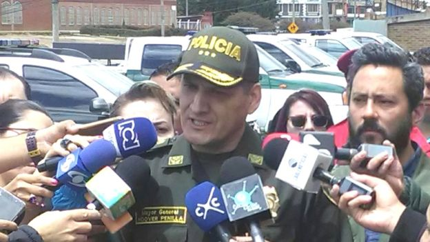 Le commandant de la police de Bogotá s'est dit préoccupé par les récentes fausses chaînes