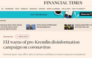 La propagande antirusse surfe sur la vague du coronavirus
