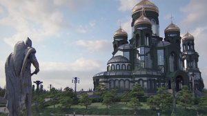 Des images virales de la «cathédrale de guerre» de Poutine sont comme «un aperçu d'une civilisation extraterrestre»