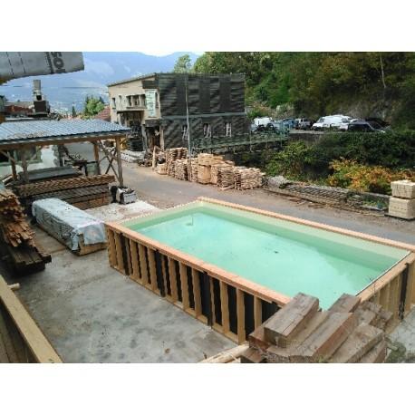 kit piscine enterree ossature bois