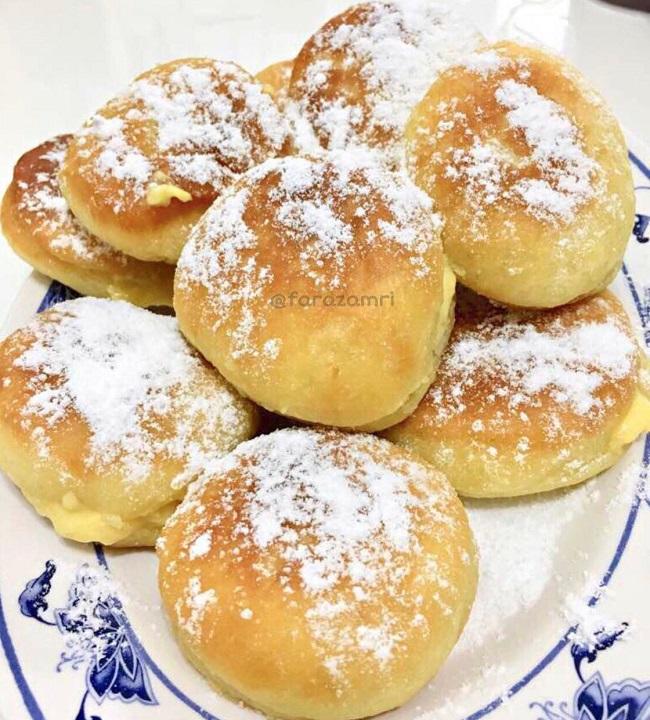 Resepi Donut Gebu Berinti Kastard