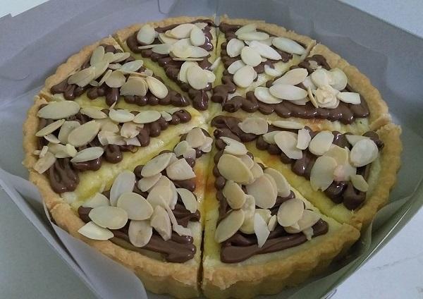 Resepi Pie Cheese Nutella Badam