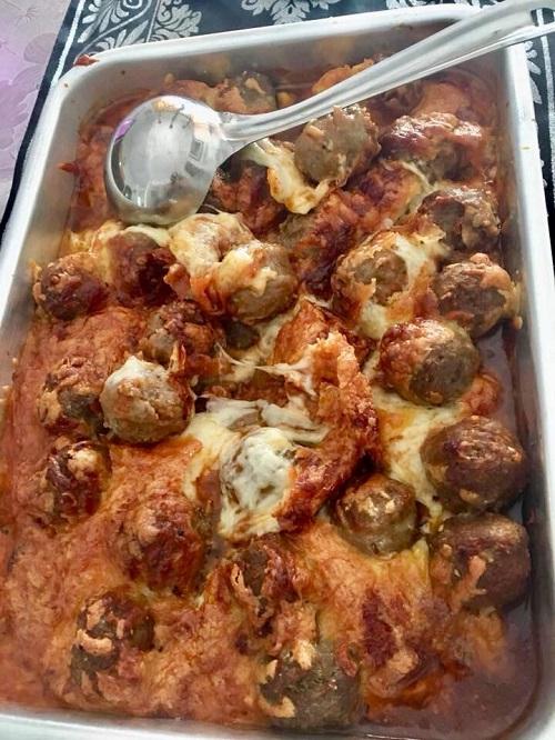 Resepi Cheesy Marinara Meatballs