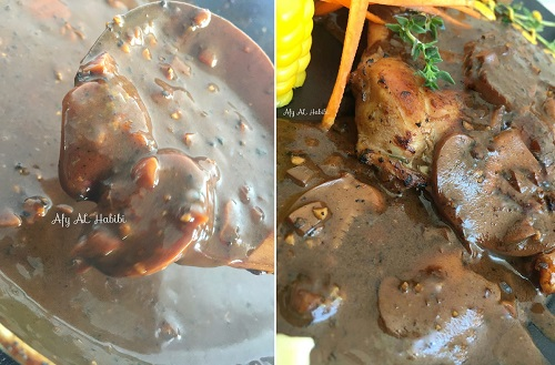 Resepi Sos Blackpepper Mushroom