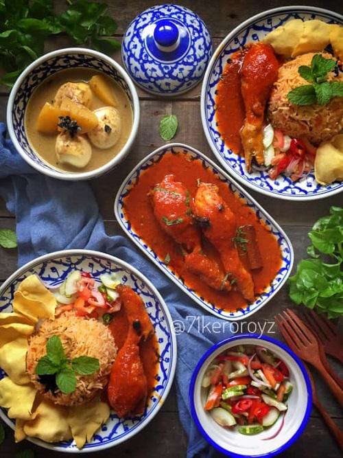 Resepi Ayam Masak Merah Dengan Nasi Tomato