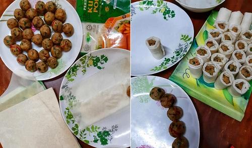 Resepi Bergedil Popia Daging dan Cili Kicap