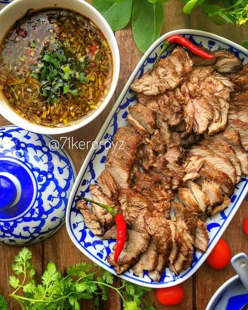 Resepi Daging Bakar Dengan Sos ala Thai