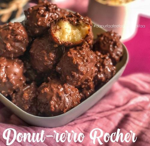 Resepi Bebola Donut, Donut-Rerro Rocher